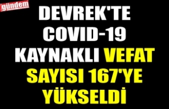 DEVREK'TE COVID-19 KAYNAKLI VEFAT SAYISI 167'YE YÜKSELDİ