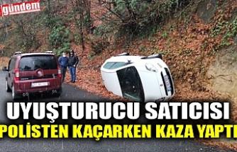 UYUŞTURUCU SATICISI POLİSTEN KAÇARKEN KAZA YAPTI