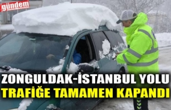 ZONGULDAK-İSTANBUL YOLU TRAFİĞE TAMAMEN KAPANDI
