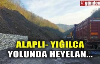 ALAPLI- YIĞILCA YOLUNDA HEYELAN