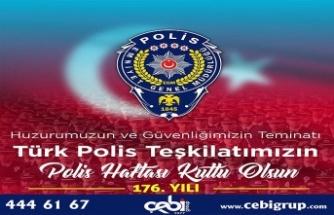 ÇEBİ GRUP CEO'SU YASİN HAMZAÇEBİ POLİS HAFTASINI KUTLADI