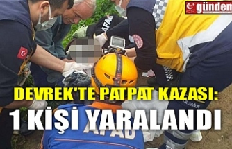 DEVREK'TE PATPAT KAZASI: 1 KİŞİ YARALANDI