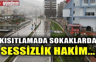 KISITLAMADA SOKAKLARDA SESSİZLİK HAKİM...