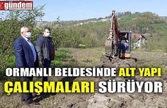 ORMANLI BELDESİNDE ALT YAPI ÇALIŞMALARI SÜRÜYOR