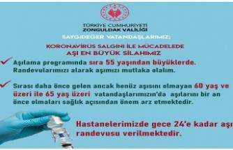 VALİLİK'TEN AŞI ÇAĞRISI !