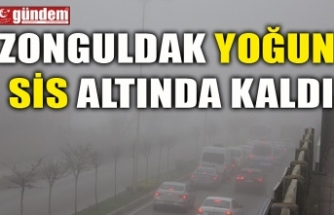 ZONGULDAK YOĞUN SİS ALTINDA KALDI