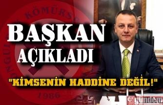 Zonguldak Belediye Başkanı Dr. Ömer Selim Alan'dan Kömürspor açıklaması.