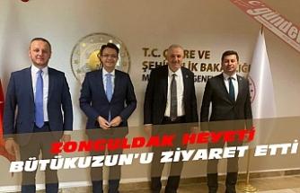 ZONGULDAK HEYETİ BÜYÜKUZUN'U ZİYARET ETTİ.