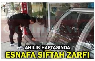 AHİLİK HAFTASINDA ESNAFA SİFTAH ZARFI