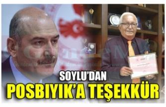 SOYLU'DAN POSBIYIK'A TEŞEKKÜR