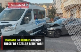 Ereğli'de kazalar bitmiyor..!!