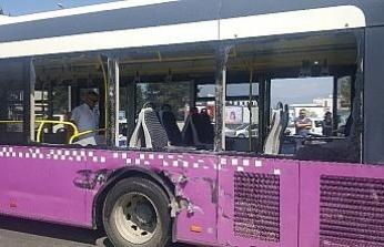Otobüs ile beton mikseri çarpıştı: 3 yaralı