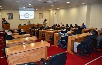 Belediye personeline madde bağımlılığı eğitimi