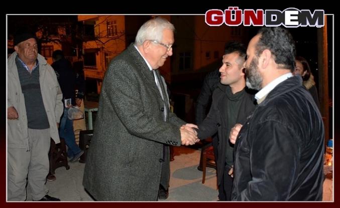Posbıyık Ömerli'de halk toplantısında vatandaşlarla bir arada...
