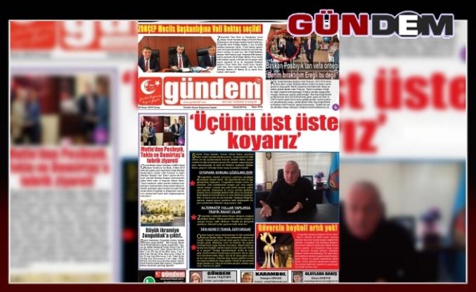 26 Nisan 2019 Cuma Gündem Gazetesi