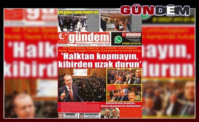 29 Nisan 2019 Pazartesi Gündem Gazetesi