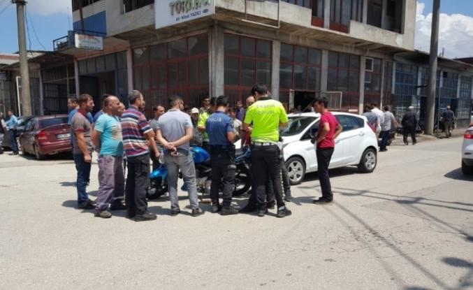 Otomobil, bisiklet ve motosikletin karıştığı kazada 1 kişi yaralandı