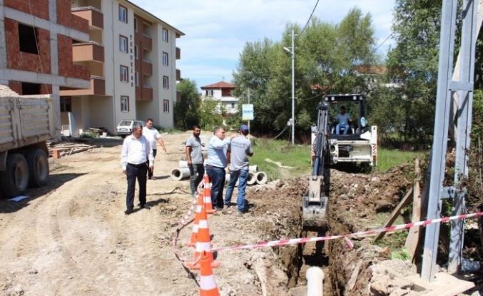 Yeni yerleşim alanlarına altyapı hizmeti