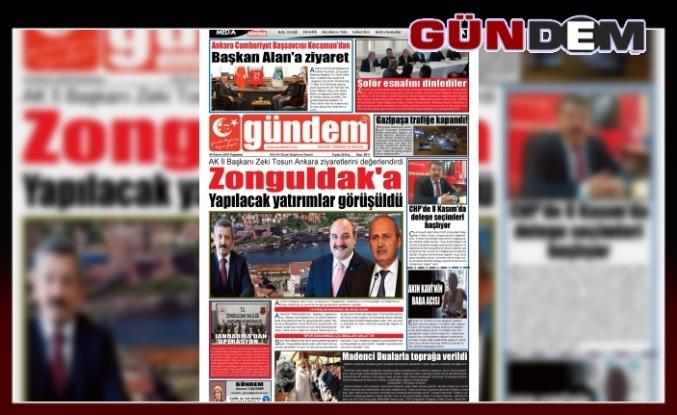 04 Kasım 2019 PAZARTESİ GÜNDEM GAZETESİ