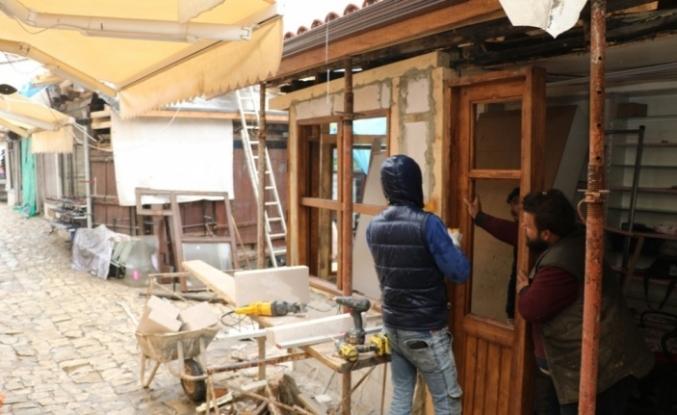 Safranbolu'da tarihi dükkanlar restore ediliyor