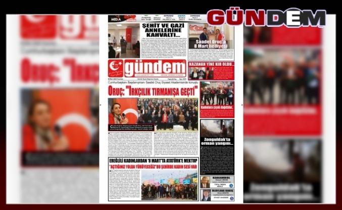 09 MART 2020 PAZARTESİ GÜNDEM GAZETESİ
