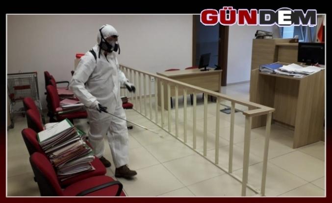 Adliye ve cezaevi dezenfekte edildi...