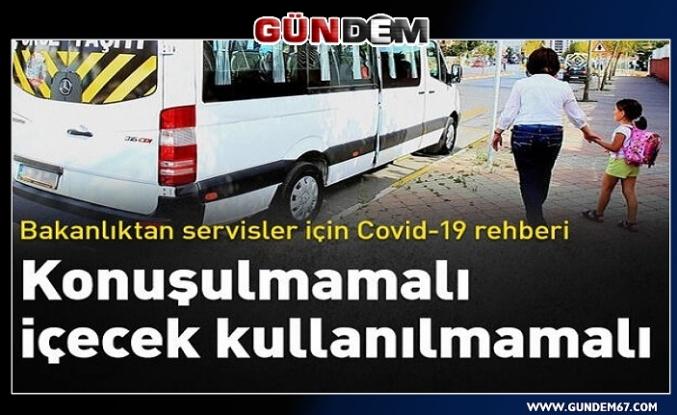 Sağlık Bakanlığından servisler için Covid-19 rehberi...