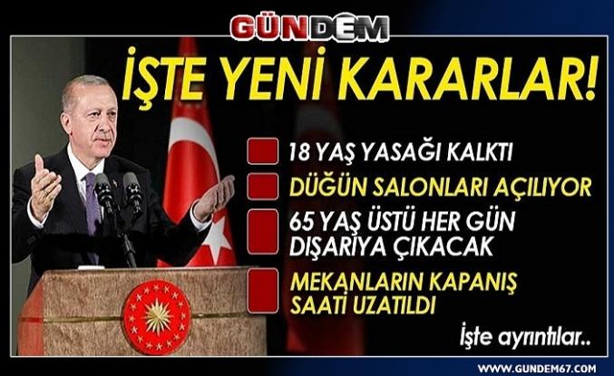 Cumhurbaşkanı Erdoğan yeni kararları açıkladı...