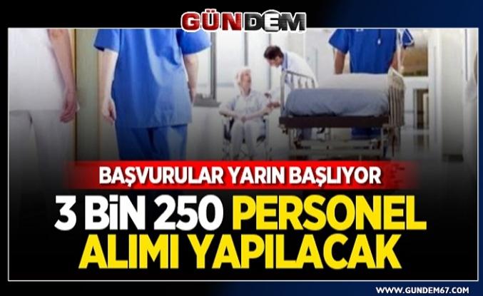 Sağlık Bakanlığı 3 bin 250 personel alımı yapacak