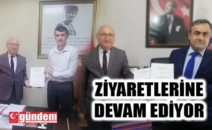AHMET SARSIK ZİYARETLERİNE DEVAM EDİYOR