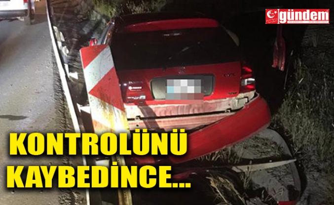 ARACIYLA SU KANALINA GİRDİ, YARALANDI