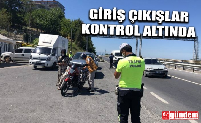 ALAPLI'DA GİRİŞ ÇIKIŞLAR KONTROL ALTINA ALINDI