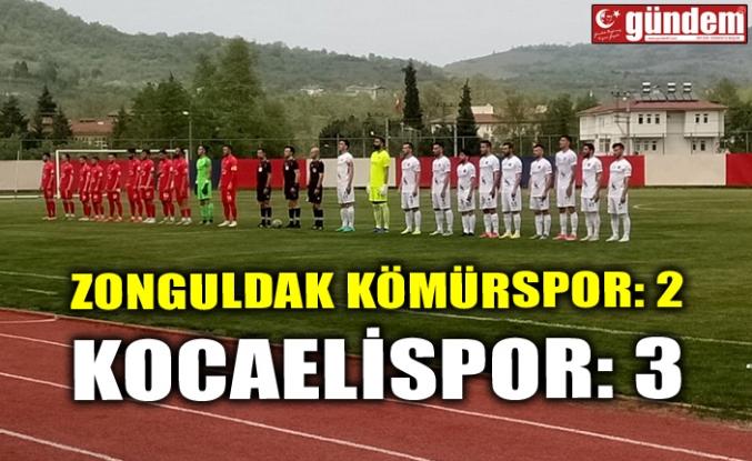Zonguldak Kömürspor:2 - Kocaelispor:3