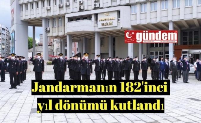Jandarma teşkilatının kuruluşu 182. yıl dönümü kutlandı