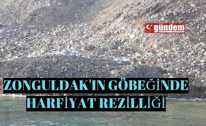 Zonguldakın göbeğinde kaçak hafriyat rezilliği!