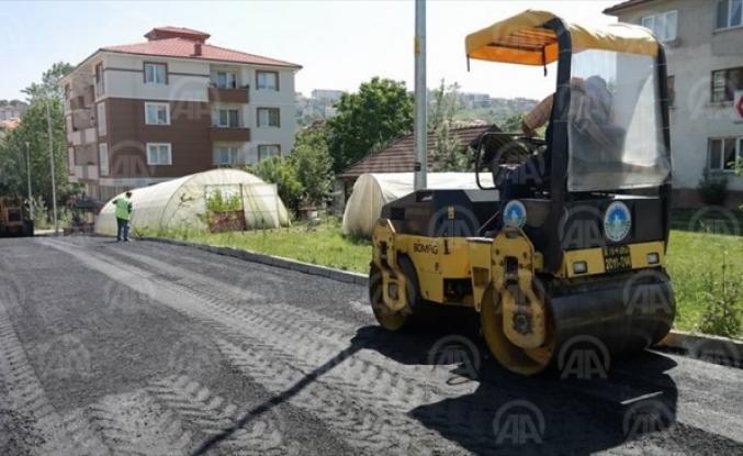 Bartın'da asfalt çalışmaları
