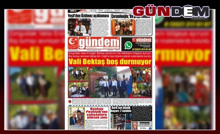 25 MAYIS 2019 CUMARTESİ GÜNDEM GAZETESİ