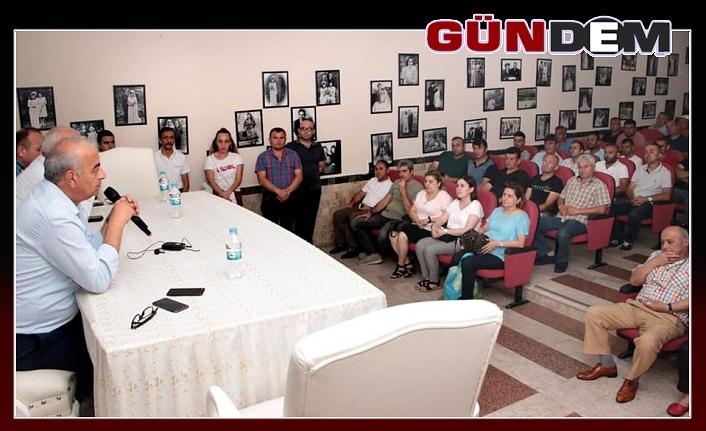 Başkan Bozkurt, personeliyle toplantıda buluştu