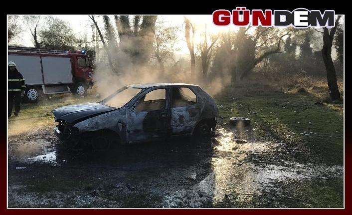 Yangın otomobili kül etti!..