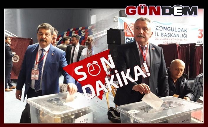 CHP Zonguldak'ta yeni başkan heyecanı... oy kullanma işlemi sona erdi