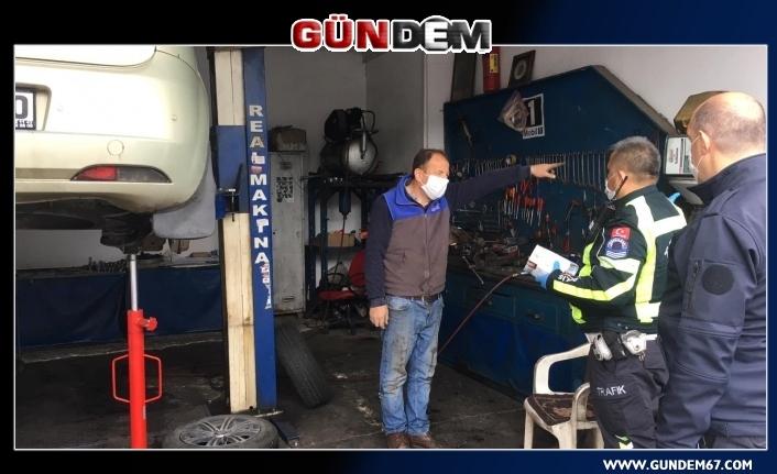 Ereğli Emniyeti 10 bin adet maske dağıttı