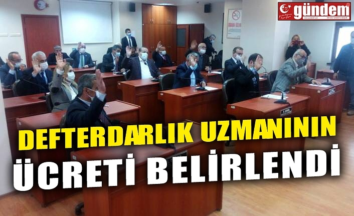 DEFTERDARLIK UZMANININ ÜCRETİ BELİRLENDİ