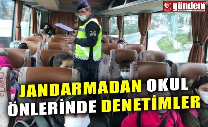 JANDARMADAN OKUL ÖNLERİNDE DENETİMLER
