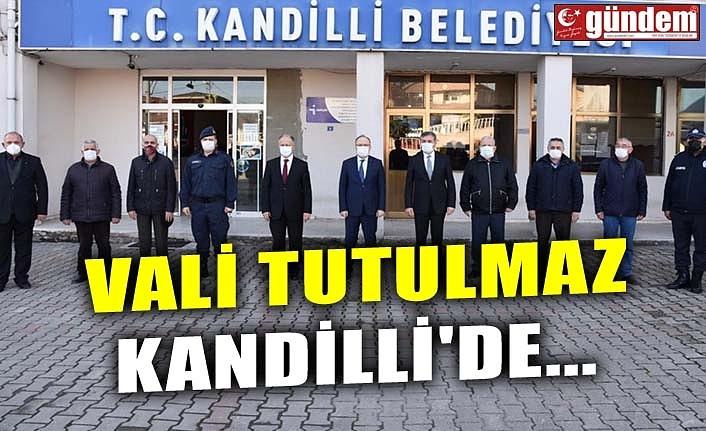 VALİ TUTULMAZ KANDİLLİ'DE...