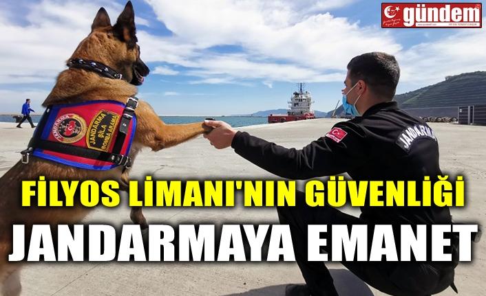 FİLYOS LİMANI'NIN GÜVENLİĞİ JANDARMAYA EMANET