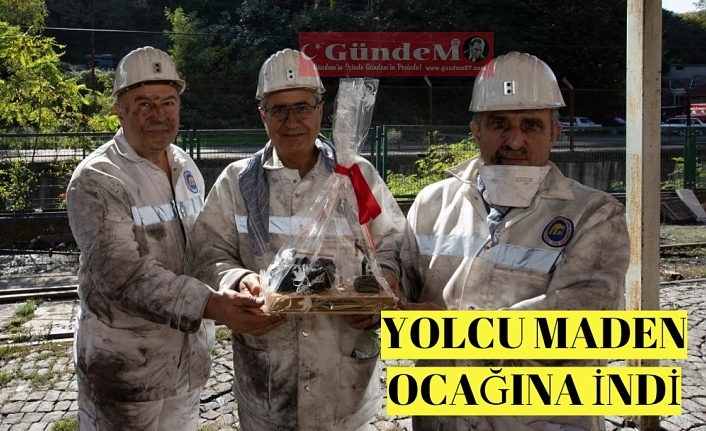 Yolcu maden ocağına indi