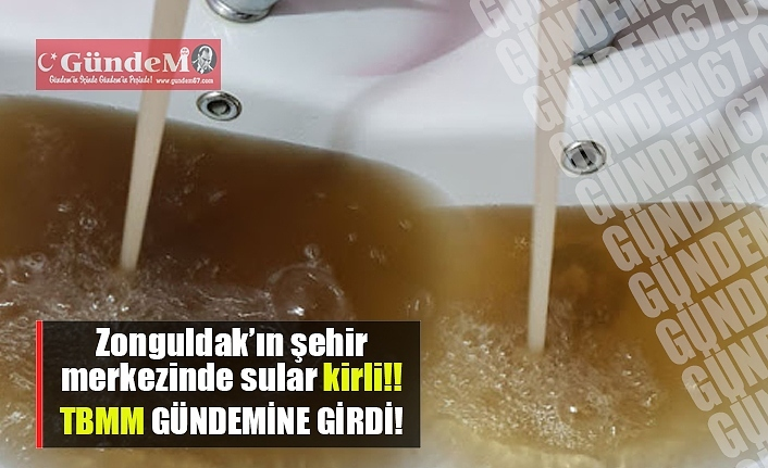 Zonguldak'ın şehir merkezindeki kirli su, meclisin gündemin de..